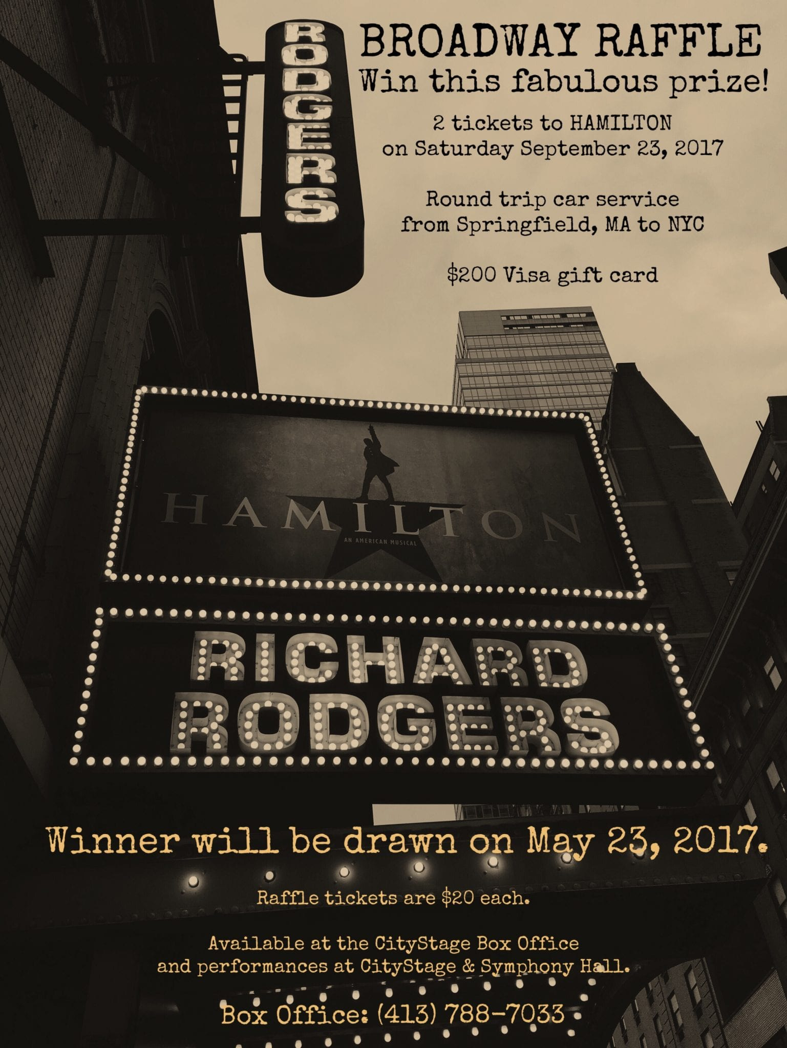 CityStage & Symphony Hall announce a chance to win HAMILTON tickets!